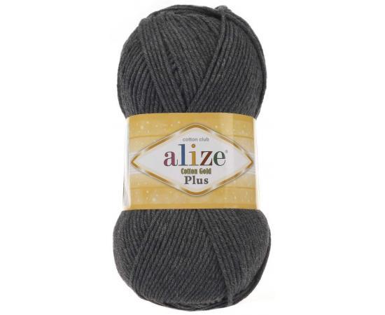 Пряжа ALIZE COTTON GOLD PLUS 182 темно-серый меланж, Цвет: 182 темно-серый меланж