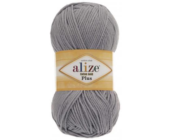 Пряжа ALIZE COTTON GOLD PLUS 21 серый, Цвет: 21 серый