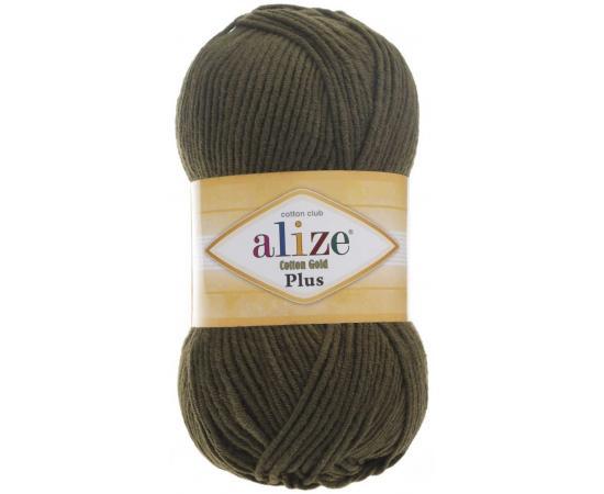Пряжа ALIZE COTTON GOLD PLUS 214 оливковый, Цвет: 214 оливковый