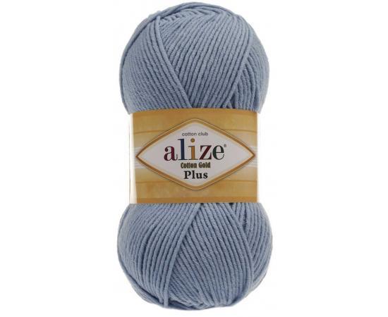 Пряжа ALIZE COTTON GOLD PLUS 350 св.голубой, Цвет: 350 св.голубой