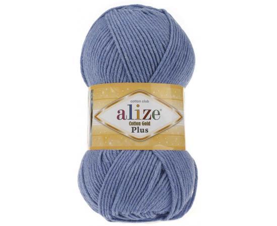 Пряжа ALIZE COTTON GOLD PLUS 374 т.голубой меланж, Цвет: 374 т.голубой меланж