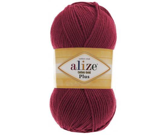Пряжа ALIZE COTTON GOLD PLUS 390 вишневый, Цвет: 390 вишневый