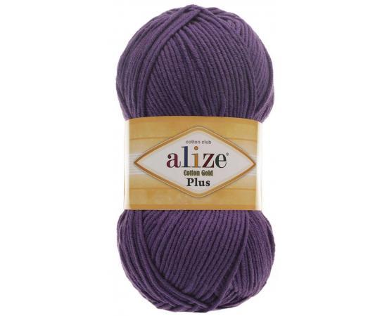 Пряжа ALIZE COTTON GOLD PLUS 44 фиолетовый, Цвет: 44 фиолетовый