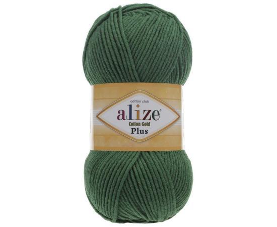 Пряжа ALIZE COTTON GOLD PLUS 492 зеленый, Цвет: 492 зеленый