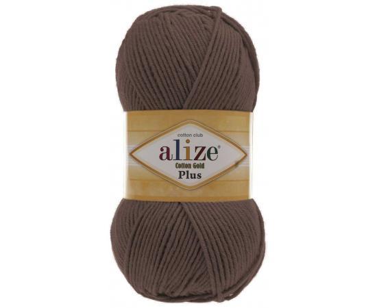 Пряжа ALIZE COTTON GOLD PLUS 493 коричневый, Цвет: 493 коричневый