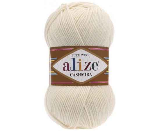 Пряжа ALIZE CASHMIRA 01 кремовый, Цвет: 01 кремовый