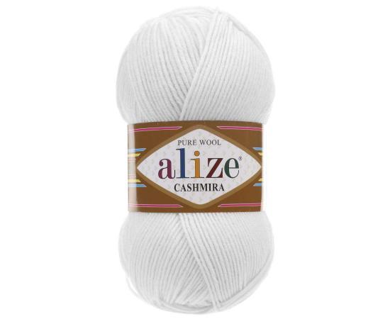 Пряжа ALIZE CASHMIRA 55 белый, Цвет: 55 белый