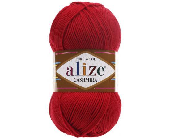 Пряжа ALIZE CASHMIRA 56 красный, Цвет: 56 красный