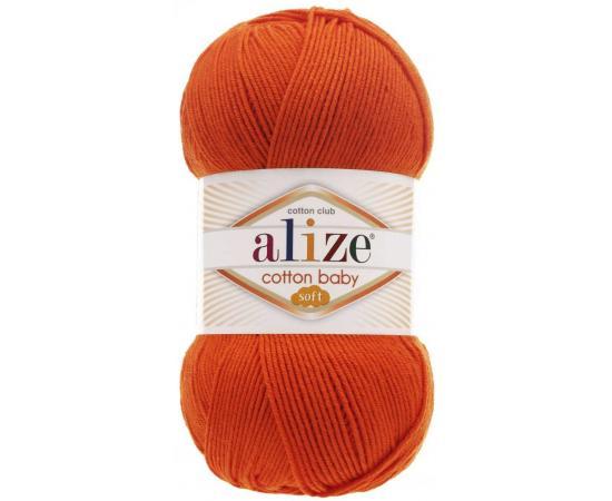 Пряжа ALIZE COTTON BABY SOFT 37 оранжевый, Цвет: 37 оранжевый