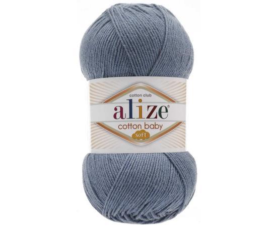 Пряжа ALIZE COTTON BABY SOFT 374 синий, Цвет: 374 синий