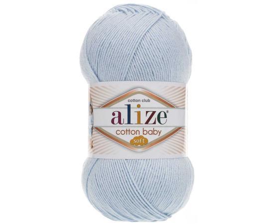 Пряжа ALIZE COTTON BABY SOFT 183 св.голубой, Цвет: 183 св.голубой