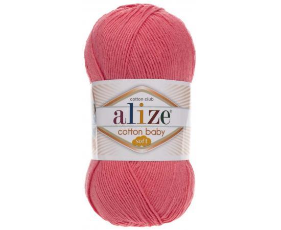 Пряжа ALIZE COTTON BABY SOFT 33 роз.коралл, Цвет: 33 роз.коралл