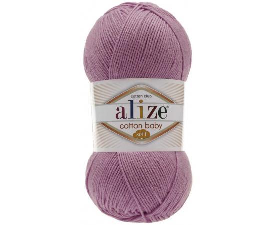 Пряжа ALIZE COTTON BABY SOFT 520 гр.розовый, Цвет: 520 гр.розовый
