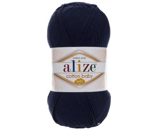 Пряжа ALIZE COTTON BABY SOFT 58 темно-синий, Цвет: 58 темно-синий