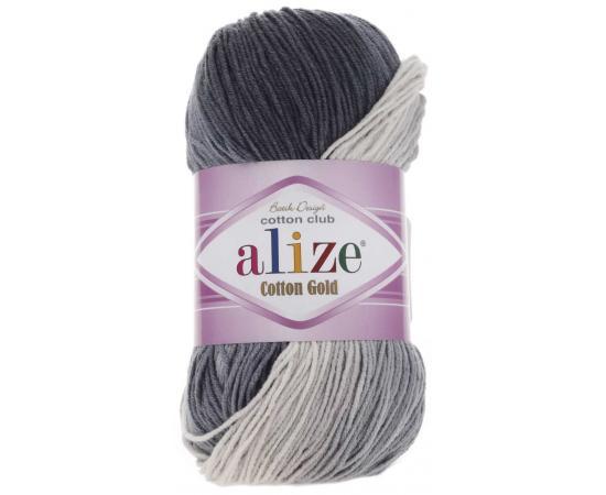 Пряжа ALIZE COTTON GOLD BATIK 2905 серый, Цвет: 2905 серый