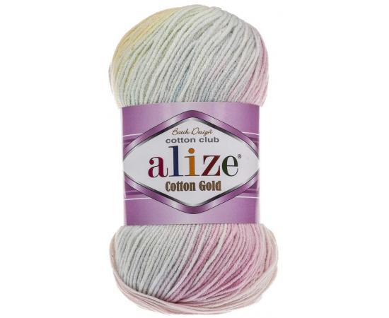 Пряжа ALIZE COTTON GOLD BATIK 6785 розово-сиреневый, Цвет: 6785 розово-сиреневый