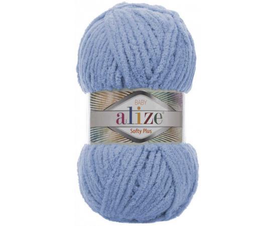 Пряжа ALIZE SOFTY PLUS 112 голубой, Цвет: 112 голубой