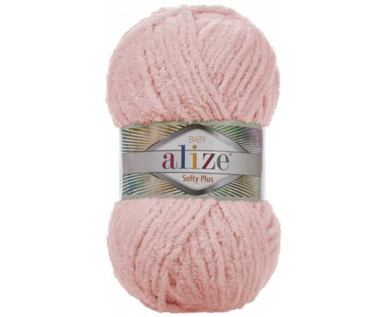 Пряжа ALIZE SOFTY PLUS 340 розовый персик, Цвет: 340 розовый персик