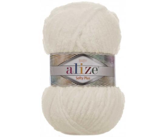 Пряжа ALIZE SOFTY PLUS 62 кремовый, Цвет: 62 кремовый
