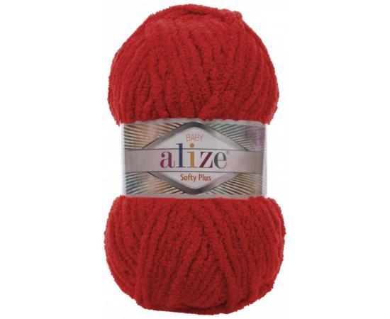 Пряжа ALIZE SOFTY PLUS 56 красный, Цвет: 56 красный