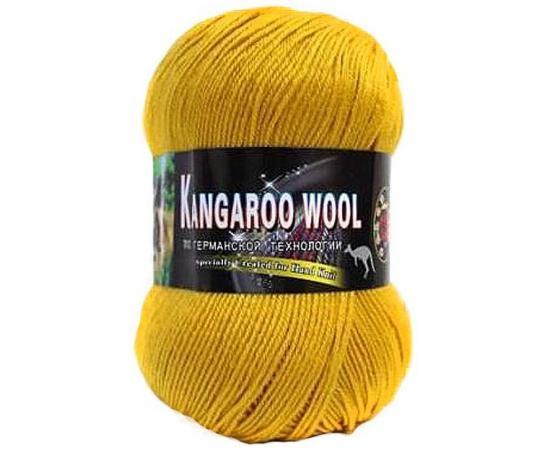 Пряжа COLOR CITY KANGAROO WOOL 123 горчица, Цвет: 123 горчица