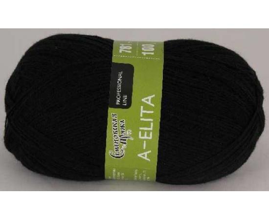 Пряжа Семеновская АЭЛИТА 1 черный, Цвет: 1 черный