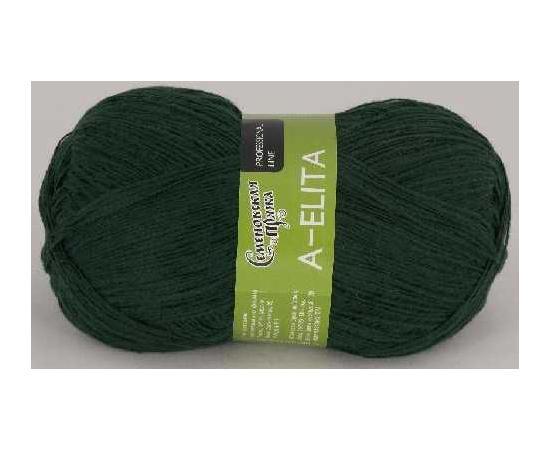 Пряжа Семеновская АЭЛИТА 62 темно-зеленый, Цвет: 62 темно-зеленый