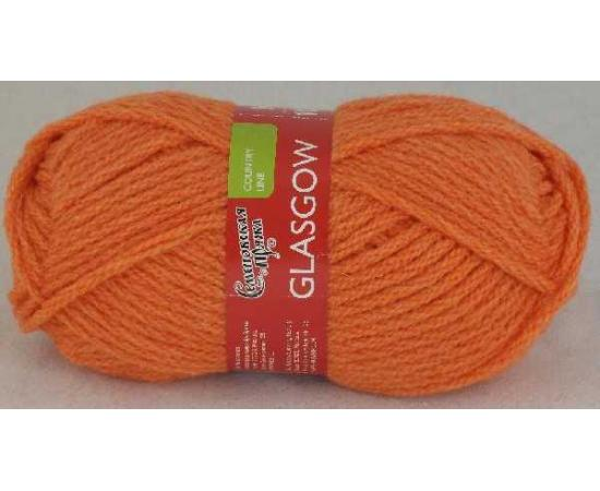 Пряжа Семеновская ГЛАЗГО 670 морковный, Цвет: 670 морковный
