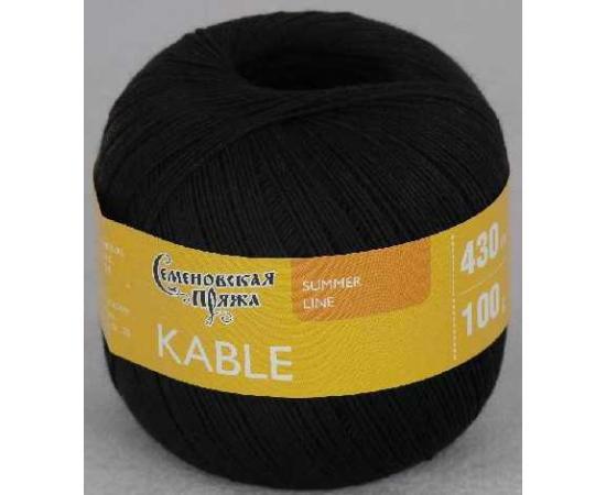Пряжа Семеновская КАБЛЕ 1 черный, Цвет: 1 черный