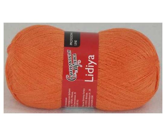 Пряжа Семеновская ЛИДИЯ ПШ 670 морковный, Цвет: 670 морковный