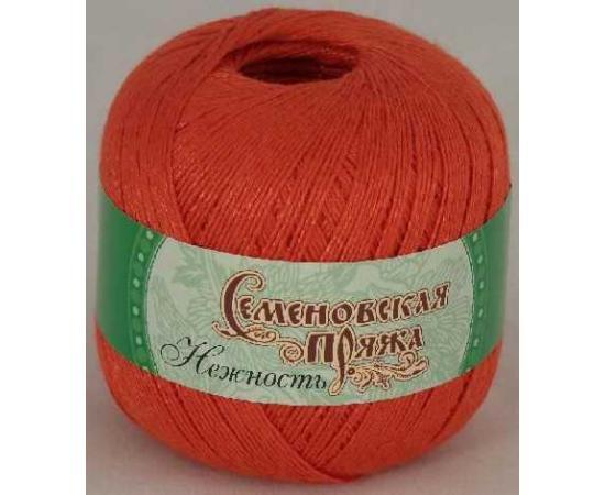 Пряжа Семеновская НЕЖНОСТЬ 670 морков., Цвет: 670 морков.