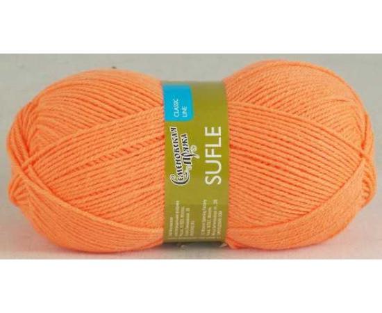Пряжа Семеновская СУФЛЕ 142 апельсин, Цвет: 142 апельсин