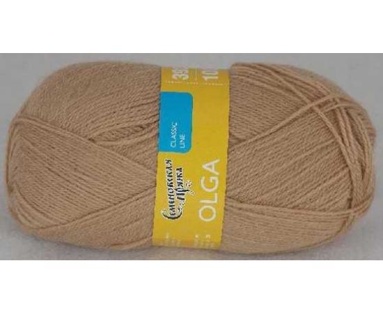 Пряжа Семеновская ОЛЬГА ПШ 28 песочный, Цвет: 28 песочный