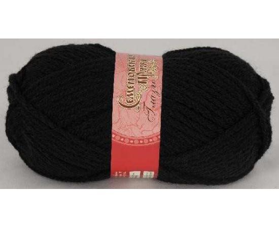 Пряжа Семеновская ГЛАЗГО 1 черный, Цвет: 1 черный