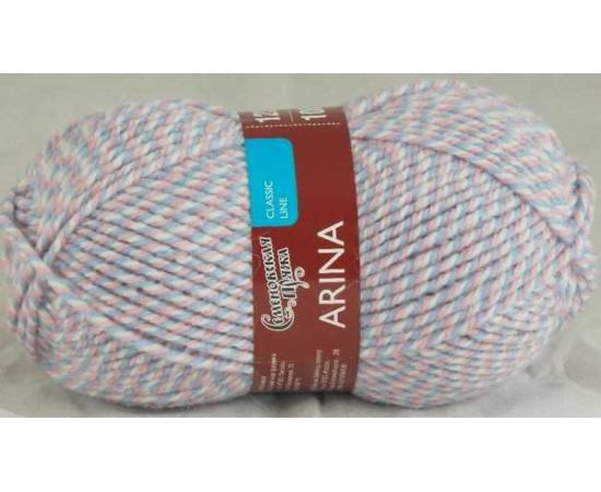 Пряжа Семеновская АРИНА ПШ 1352 мозаика 10 (розово-голубой), Цвет: 1352 мозаика 10 (розово-голубой)