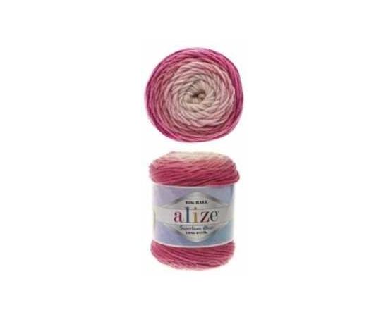 Пряжа ALIZE SUPERLANA MAXI LONG BATIK 6769 розовый, Цвет: 6769 розовый, изображение 2