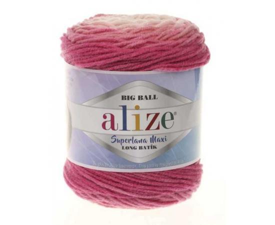 Пряжа ALIZE SUPERLANA MAXI LONG BATIK 6769 розовый, Цвет: 6769 розовый