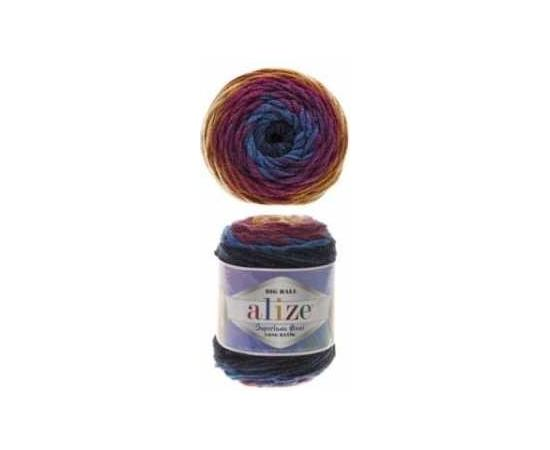 Пряжа ALIZE SUPERLANA MAXI LONG BATIK 6774 синий, Цвет: 6774 синий, изображение 2