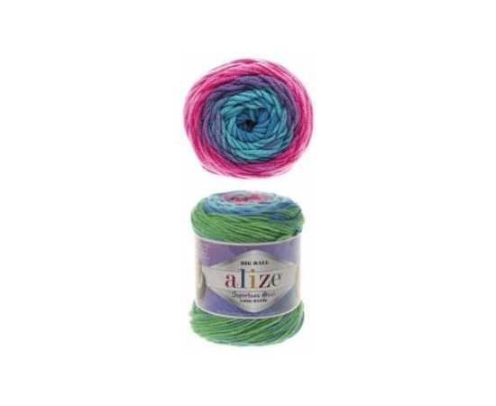 Пряжа ALIZE SUPERLANA MAXI LONG BATIK 6776 бирюзовый, Цвет: 6776 бирюзовый, изображение 2