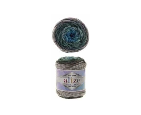Пряжа ALIZE SUPERLANA MAXI LONG BATIK 6777 голуб/зелень, Цвет: 6777 голуб/зелень, изображение 2