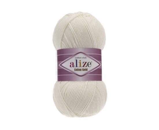 Пряжа ALIZE COTTON GOLD 62 молочный, Цвет: 62 молочный