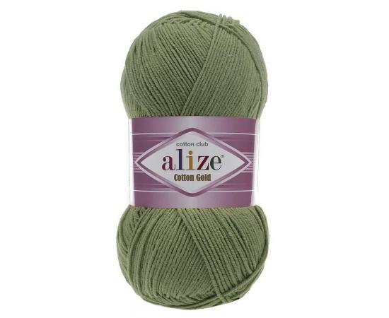 Пряжа ALIZE COTTON GOLD 485 дымчато-зеленый, Цвет: 485 дымчато-зеленый