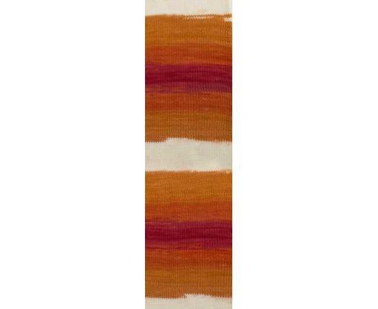Пряжа ALIZE COTTON GOLD BATIK 7107 рыжий принт, Цвет: 7107 рыжий принт, изображение 2