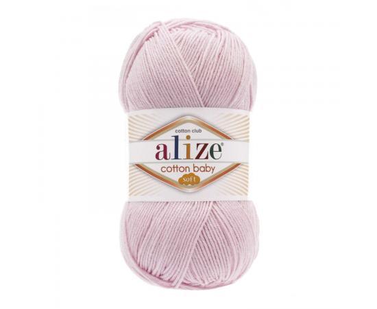 Пряжа ALIZE COTTON BABY SOFT 184 светло-розовый, Цвет: 184 светло-розовый