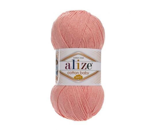 Пряжа ALIZE COTTON BABY SOFT 145 персиковый, Цвет: 145 персиковый
