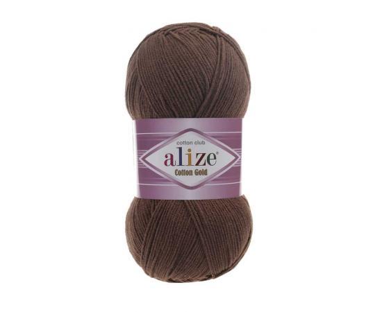 Пряжа ALIZE COTTON GOLD 493 коричневый, Цвет: 493 коричневый