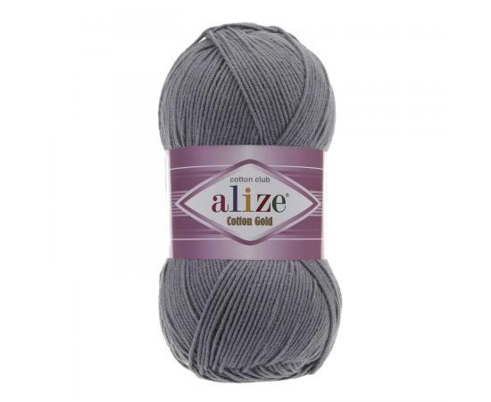 Пряжа ALIZE COTTON GOLD 87 угольный серый, Цвет: 87 угольный серый
