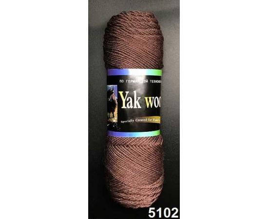 Пряжа COLOR CITY YAK WOOL (ЯК ВУЛ) 5102 шоколад, Цвет: 5102 шоколад
