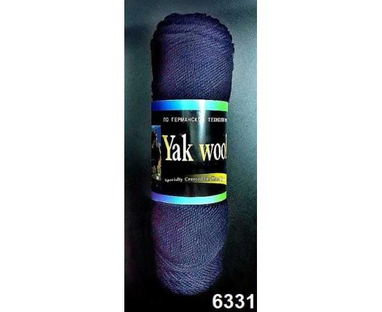 Пряжа COLOR CITY YAK WOOL (ЯК ВУЛ) 6331 чернильно-синий, Цвет: 6331 чернильно-синий