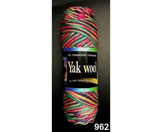 Пряжа COLOR CITY YAK WOOL (ЯК ВУЛ) 962 т.радуга, Цвет: 962 т.радуга